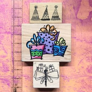 Rubber Stamps Set of 3